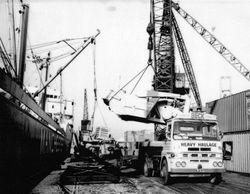 Loading up at Salford Docks
