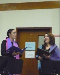 Mireya Salas and Lizi Rodríguez