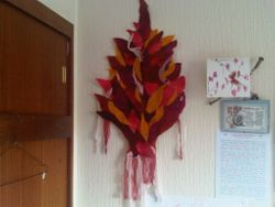 wall hanging - fire tree