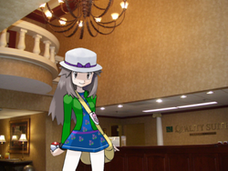 Lisa in Quality Suites Lobby