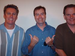 Eric with Brian Regan and Tom Ryan in Charleston, SC