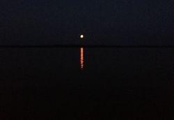 Full moon on Kentucky Lake