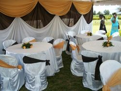table set up for wedding