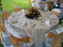 Reastaurant set up for wedding