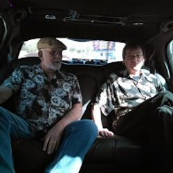 Jerry and Bradford Riding in Style
