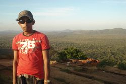 on the sigiriya rock
