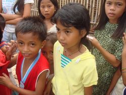 The children of San Antonio village near Ozamiz