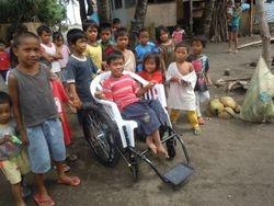 Hymie gets a wheelchair