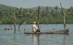 """Fisherman paddle a """"Woda"""""""