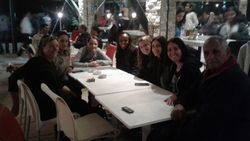 The ladies with Mr. Laraichi, President of FRMM during an outing in Ifrane (Town)