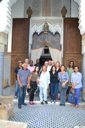 Delegates during the General Assembly Excursion in Fes, Morocco.