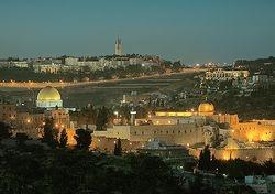 Gerusalemme citta' vecchia vista dall'alto