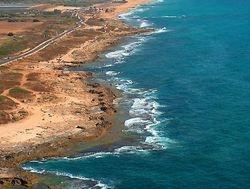 spiaggia sotto Rosh Hanikra