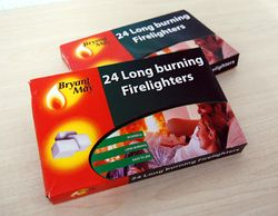 24x Long Burning Firelighters - 1 euro per pack