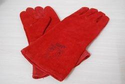 Long Fireside leather gloves - 6 euros