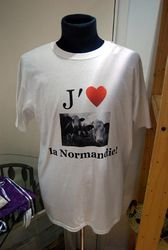 "NEW ""I love Normandy"" T-shirt - 10 euros"
