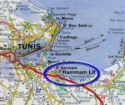 Tunisa Map