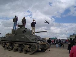 Sherman Tank owned by Adrian Burrell