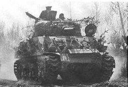 Sherman Tank in action