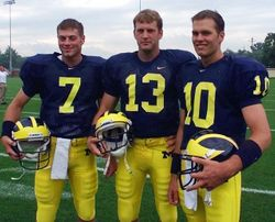 Tom Brady in Michigan Uniform