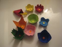 Egg Carton Flowers March 2015