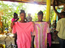 The girls with clothes from Isa