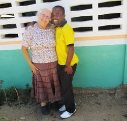 Linda with the senior teacher
