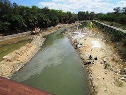 The Massacre River forms the border