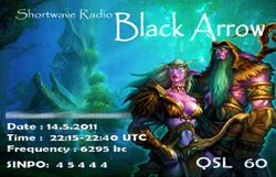 Shortwave Radio Black Arrow
