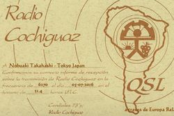 Radio Cochiguaz Peru(European relay)