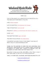 Weekend Music Radio