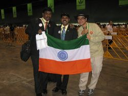 with indian team