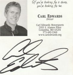 Signed Edwards Business Card