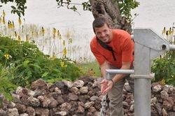 David at a well