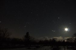 Moon & Orion