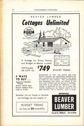 Ad from 1961 Cognashene Cottager