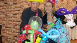 Darin & Julie with some of their creations.