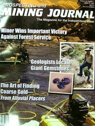 Cover geologist of Prospecting & Mining Journal