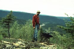 Me overlooking Snow Gulch in Back Ground, Donlin Creek gold discovery, Alaska
