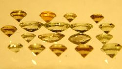 Faceted peridot, Leucite Hills, WY