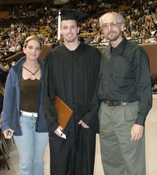 Jessica and Eric with me at UW graduation