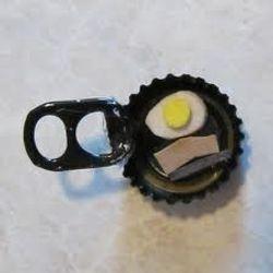 Repurposed Bottle Cap and Pop Tab Frying Pan