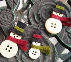 Button Snowman 2