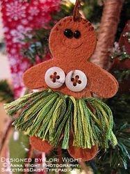 Hula Gingerbread Person
