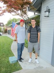 first day of junior year with my bro
