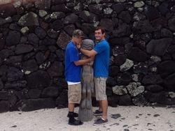 me n my bro with tiki