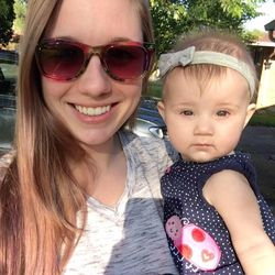 Granddaughter Andrea and greatgranddaughter Payton
