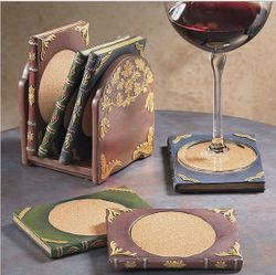 Bibliophile's Book Coasters