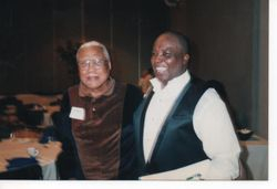 Grenoldo with former principal Ernest Swain
