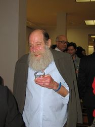 Portrait of Lawrence Weiner. Photo by Guy Donkers